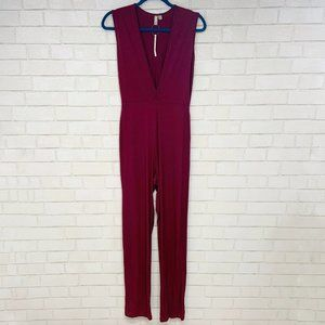 Asos Tall Jersey, Body Fit, Deep Plunge Jumpsuit